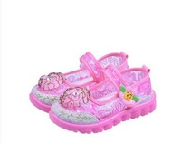 new 2014 flower sandals for girls summer sandals girls EU21-32/12.5CM-18CM Frees shipping summer shoes for girls baby sandals