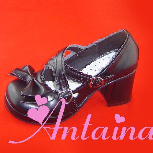 Princess sweet lolita shoes gothic lolita Antaina bow lolita princess queen of shoes 9235 a custom for 3-5days PU shoes(China (Mainland))