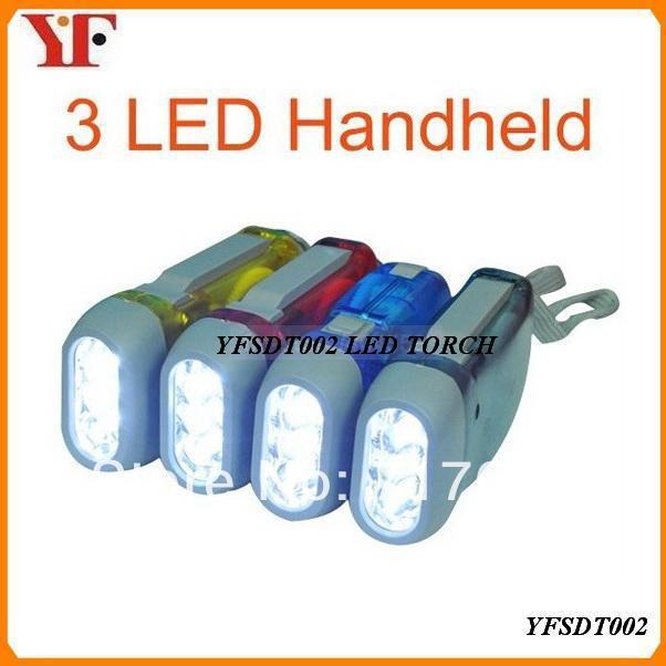 Hand Power Dynamo LED Flashlight YFSDT002(China (Mainland))