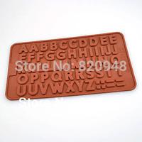 Free Shipping 5 pc/lot Alphabet Letter 21cm x 11cm x 0.5cm Silicone Mould Cake Reusable Baking Fondant Cupcake