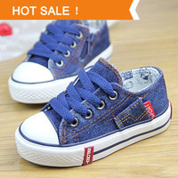 New 2014 Spring Beauty Denim Canvas Children Shoes Spring Kids Sneakers Boys & Girls Jeans Running Shoes size 25-37