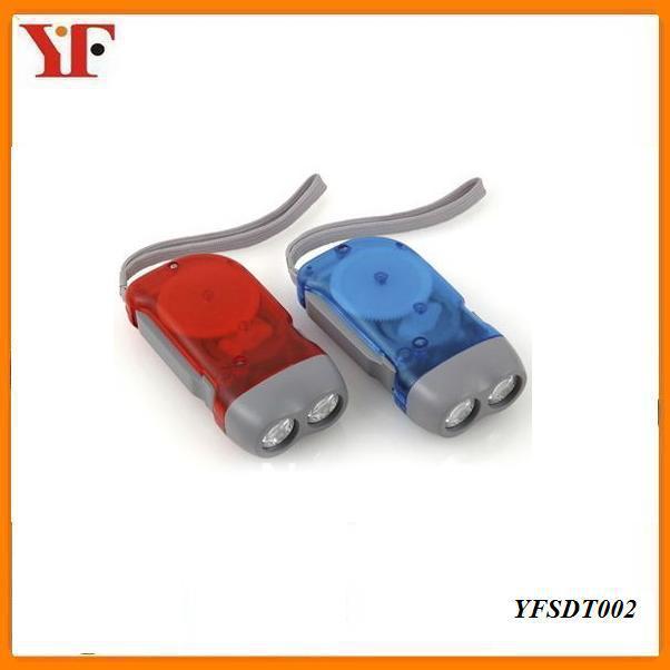 factory store hand crank dynamo led flashlight YFSDT002(China (Mainland))