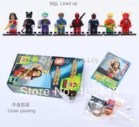 Catwoman Flash X-Men Minifigure Building Blocks Sets Super hero DIY Building Block doll compatible all brand  classic toys T06