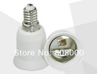Free shipping 10pcs / Lot E14 to E27 Extend Base LED Light Bulb Lamp Adapter Converter
