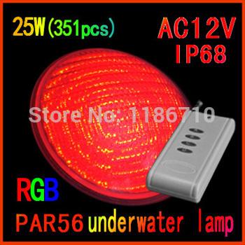 The new 2014 Small power 25W 351pcs RGB Par56 led swimming pool light SMD 12v led