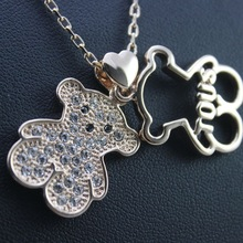 Fashion Double bear necklace for women luxury statement brand stud necklace new design jewelry