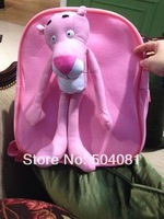 2014 new 3D Cartoon bag for kids Adorable 40cm Pink Panther Cute plush doll school bag Kid Backpack Children Plush NICI Backpack