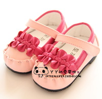 Free shipping Child single shoes female bow baby shoes toddler baby princess leather baby shoes
