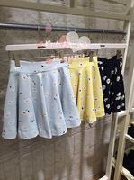 2014 Lean Snidel All-match High Waist Chiffon Daisy Flower Floral Print Short Full Skirt Bust Skirt