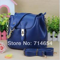 2014 New Fashion Elegant Women PU leather bag Messenger high quality Leather Bucket bag Handbag for women high quality 6colors
