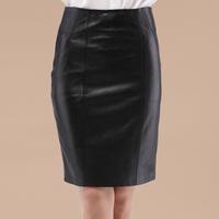 2014 Sale Hot Sale Freeshipping Fur Saias Femininas Skirt Genuine Leather Sheepskin Bust Skirt Step Slim Hip Medium-long Female