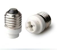 Free shipping 10pcs / lot E27 to G9 ceramic lamp base screw-mount adapter led adapter