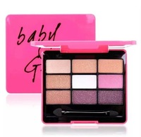 Wholesale 2014 top selling baby gaga eyeshadow 9 colors box glitter natual make up free shipping  5pcs