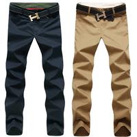 Jieeliee summer 2014 male casual pants trousers male slim trousers straight pants