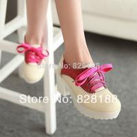 New 2014 Women shoes Fashion women pumps Sweet Plus size Platform high heels Casual shoes Free shipping