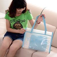2014 new handbag Korean jelly color transparent beach bag fashion bag big bag B139 letters