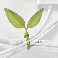 12PCS Leaf Leaves Tie Style Power Cord Management-Ray Belt Cable Winder Tie-Line Free Shipping
