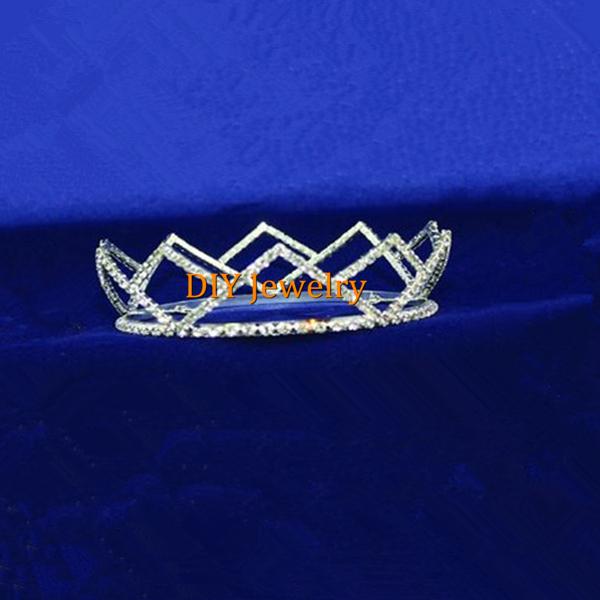 Young Pageant Tiara Rhinestone Round Boys Crown TR116(China (Mainland))