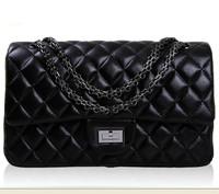 women small shoulder bag pu chain clutch black fashion bag