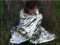 2 PCS Waterproof Emergency Survival Foil Life-saving Blanket