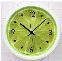 Creative Rustic lemon clocks Wall clock fashion personality Kitchen silent movement quartz clock Home Decoration Free Shipping