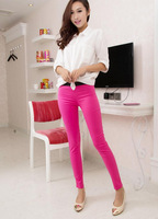 Fast arrived Show thin pencil pants Stretch feet nine minutes of women pants Tide leggings