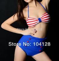 2014 new high waisted bathing suits fringe bikini victoria swimwear 2014 push-up bikinis set high waist bikini swimsuit #10