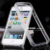 Slim Matt Transparent soft TPU bumper frame case cover for iPhone 4 4S free shipping