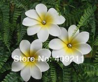 NEW ARRIVAL !  FREE SHIPPING+  300PCS /LOT+ KL946  8-9CM   FOAM  TIARE  HAIR PICK W/ SILIVER PEARLS    HAWAIIANFLOWER
