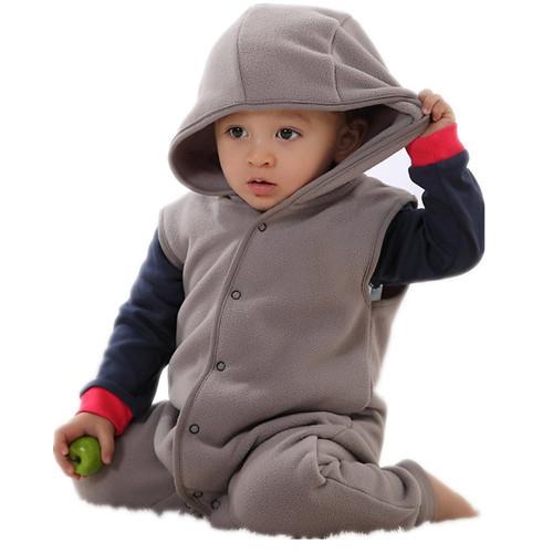 2014 abbigliamento bambino nuovoispessimento bambino appena nato l'autunno e l'inverno pagliaccetto del bambino pagliaccetto pagliaccetto gilet felpa con cappuccio