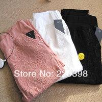 new 2014 hot fashion women's lace European casual fashion pants cute trousers capris leg stretch pencil pants 4color 6size 9609