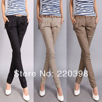 S-XL new 2014 autumn casual design long pencil pants pants straight harem pants send strap 1305