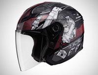 SOL-SO1-0175,Open Face,3/4 Helmet,Black Power Series,Motorcycle,High Quality EPS,Anti-UV 400 Lens,COOLMAX Liner,DOT Test
