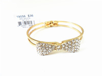 Fashion accessories personalized Women crystal opening bow bracelet m2