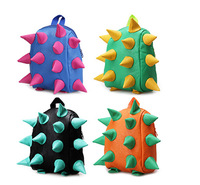 2014 New Arrival Quality  Backpacks Unisex Punk Hedgehog Spike Kids Baby Backpacks Shoulder Bag Children Schoolbag SHD-1050