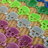 2014 New skull italy macrame lace bracelets & bangles for women men Wholesale