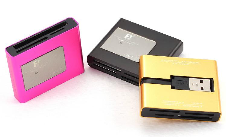 Free shipping Fb fb-660 universal card reader cf sd ms mmc - t flash card(China (Mainland))