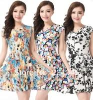 2014 springplus size clothing summer  milk silk one-piece dress