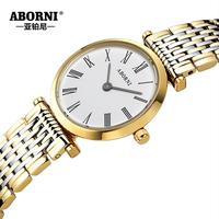 Platinum brand watches female ultra-thin female form of quartz women's watch waterproof lovers watch mens watch