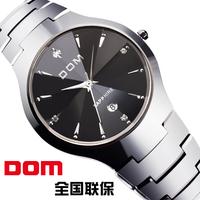 Watch male casual dom ultra-thin commercial vintage rhinestone waterproof tungsten steel mens watch