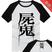 2014 New Fashion Shiki Print O-Neck Short Sleeve Anime Products Tees Men's 100% Cotton T-Shirt Men Tops (S-M-L-XL-XXL)LY