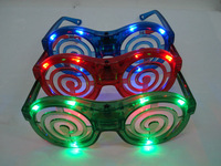 10pcs Dance party mask flash LED color light glasses  Color random delivery
