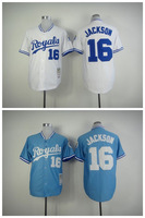 Hot Majestic 2014 New NWT Kansas City Royals 16 Bo Jackson Jersey,Men's Throwback Baseball Jerseys Embroidery High Quality