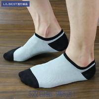 5 socks male bamboo fibre sock summer sock slippers antibiotic anti-odor all-match socks stripe plaid