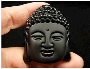 Hot Sale Natural Crystal Stone Obsidian Buddha Head Pendant Mean Male Fashion pendant wholesale price JIAXIN2101(China (Mainland))