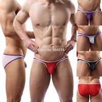 Fashion Brand New Hot Sexy Lingerie Men's Mini Sheer Organza Bikini Briefs Underwear Size M L XL 4 Colors#JJ4