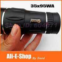 Brand NEW Original PANDA Monocular Telescope 35X95 Big Eyepiece Wide Angle Monoculars HD Green FMC Night Vision for Hunting