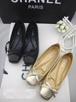 Black square toe cowhide super soft dance shoes shallow mouth single shoes flat ballet shoes