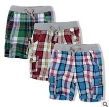 Retail 2014 fashion plaid  baby boys shorts summer  children chothing kids boys trousers free shipping(China (Mainland))