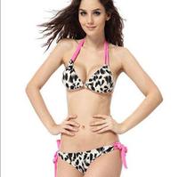 push up bikini set leopard 3025 brand women swimwear bandage swimsuit pink brazilian lingerie for bathing swim suit beach wear